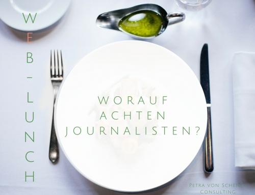 Web-Lunch: Worauf achten Journalisten?