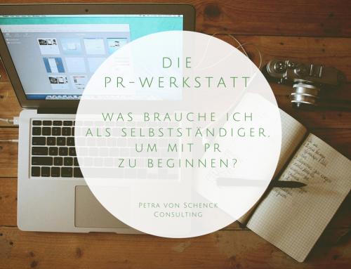 PR-Werkstatt: Als Selbstständiger mit PR beginnen