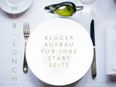 Web-Lunch: Kluger Aufbau für Ihre Start-Seite