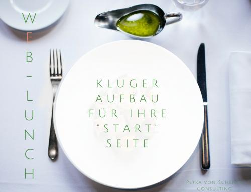 """Web-Lunch: Kluger Aufbau für Ihre """"Start-Seite"""""""