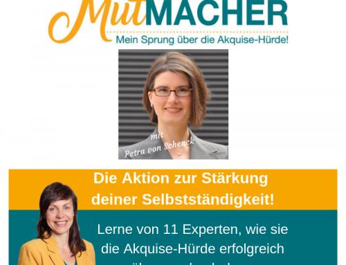 Aktion: MutMacher – Mein Sprung über die Akquise Hürde